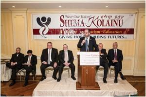 Senator Simcha Felder addressing the attendees