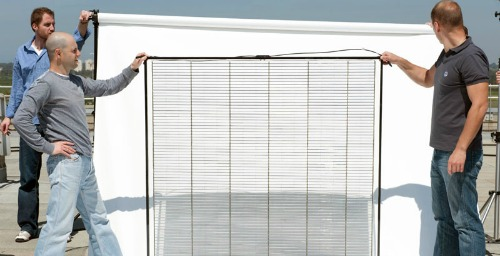 The world's first solar window.