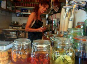 Employee Neta Maoz at Benny's Soda. Photo by Inbal Baum