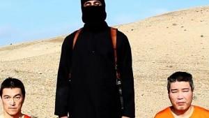 jihadi John was last seen in the execution video of Japanese hostages Kenji Goto and Haruna Yukuwa. Source: Supplied