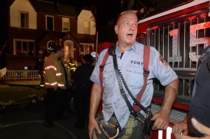 Lt. Victor Milukas of Ladder 159 talks about rescuing the boy from the smoke-filled home.